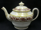 NEW HALL teapot c1800 pattern 302